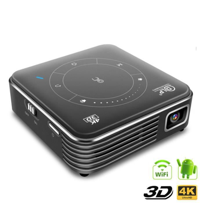 Pocket Mini DLP 3D Projector HD Android 9.0 Pour Full 1080P MAX 4K WIFI Mobile Beamer LED Smart Home Theater Projector