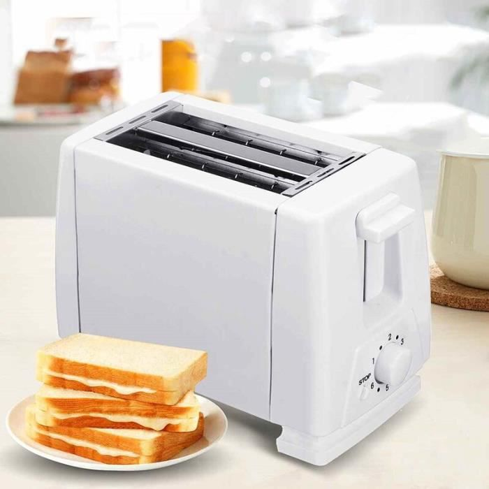 Grille pain électrique four ménage électrique automatique Machine à pain petit déjeuner Machine gril four 2 tranches EU Pl