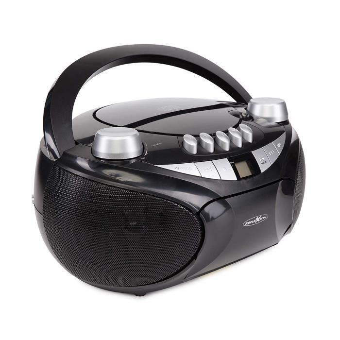 Boombox Réflexion avec Cassette CD-MP3, USB, AUX-in, SD, 2 x 32 W