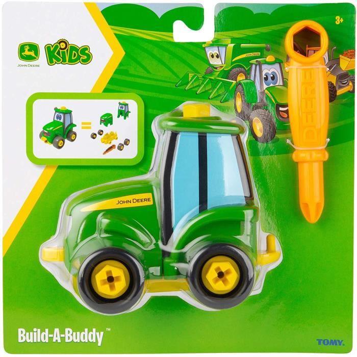 VEHICULE MINIATURE ASSEMBLE ENGIN TERRESTRE MINIATURE ASSEMBLE John Deere Build-a-Buddy Johnny Tractor Toy, Jouets de Construc257