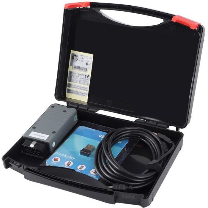 EBTOOLS Vérification des pannes de voiture Scanner de Diagnostic Auto OBD2 Bluetooth pour OKI Chip ODIS VAS5054