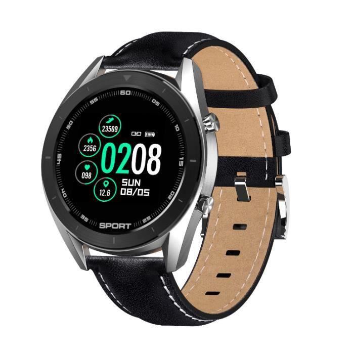 Montre Connectée Homme Bracelet Connecté Moniteur de Fréquence Cardiaque Smart Watch Cardio Sport Fitness Tracker d'Activité Calorie