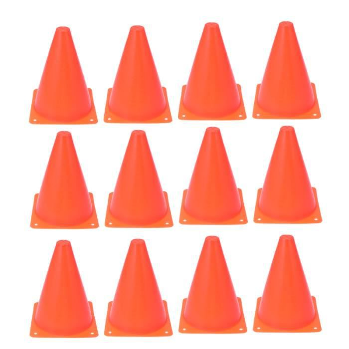 12 pièces Roadblock Cone Sports Cônes de Football Professionnel Training Gear Mini de Trafic pour le ROLLER IN LINE