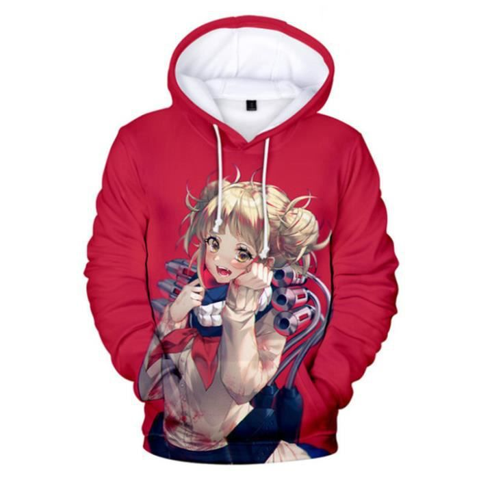 SWEAT-SHIRT Mixte - Sweatshirt à capuche imprimé mode My Hero Academia Adulte - style2 rouge FZ™