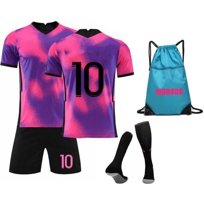 21-22 saison Maillots de Football T-Shirt avec Chaussettes et Accessoires Chemise de Football Ensemble pour adulte Enfants - Rouge
