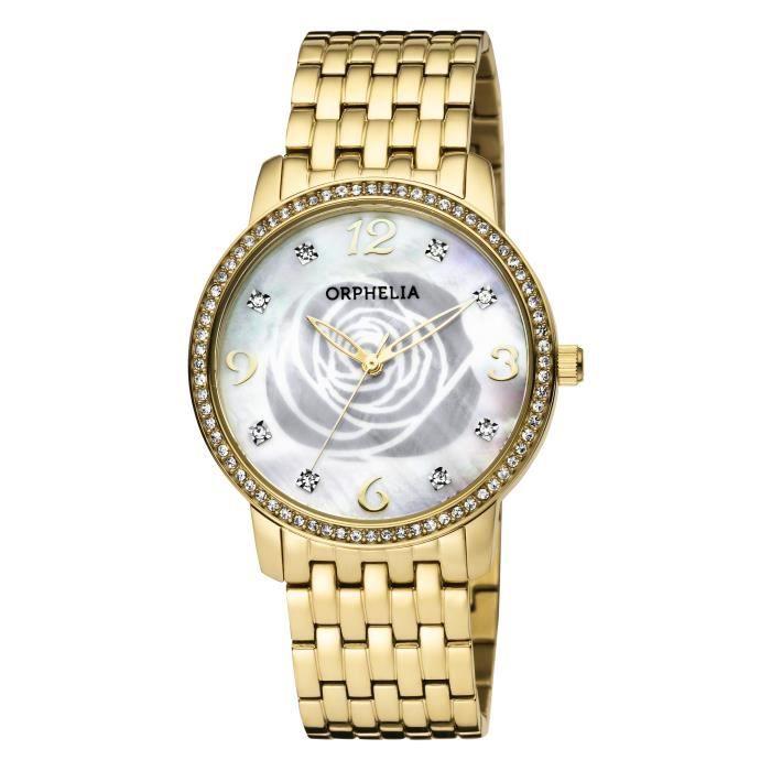 ORPHELIA - Montre Femme - Quartz Analogique - Bracelet Acier inoxydable Doré - OR12704