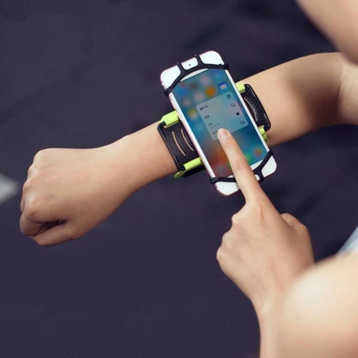 1 pc bracelet support de téléphone 180 degrés de rotation brassard de pour courir sport jogging PORTE-CARTES - POCHETTE