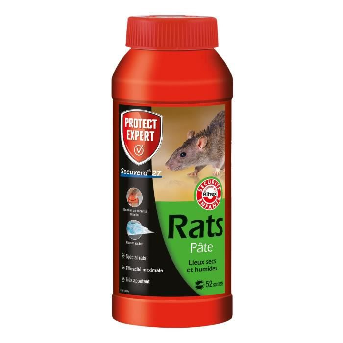 Protect Expert RACPAT520 Rats Campagnols Pates - 520 g Pex