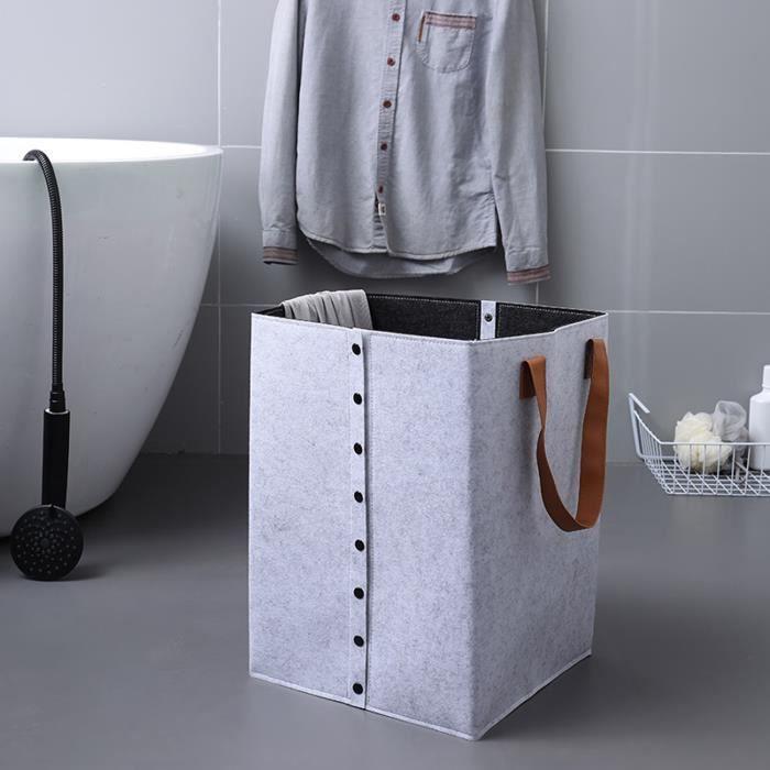 Panier à linge sale, panier à linge pliable, pour vêtements sales de salle de bain