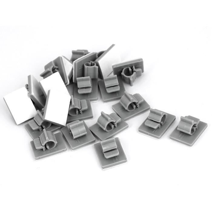 Cordon en plastique à Clips serre-câbles 6mm 7mm en acier rapide Gris