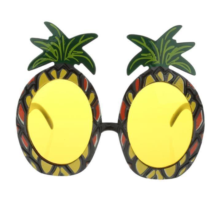 TRIXES Lunettes de Soleil Ananas Déguisement Tropical