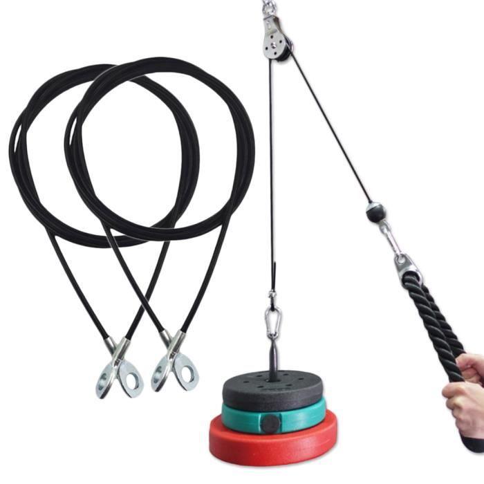 Pack 2 Entraînement D'entraînement de Triceps de Câble de Poulie de Bricolage En Acier Réglable