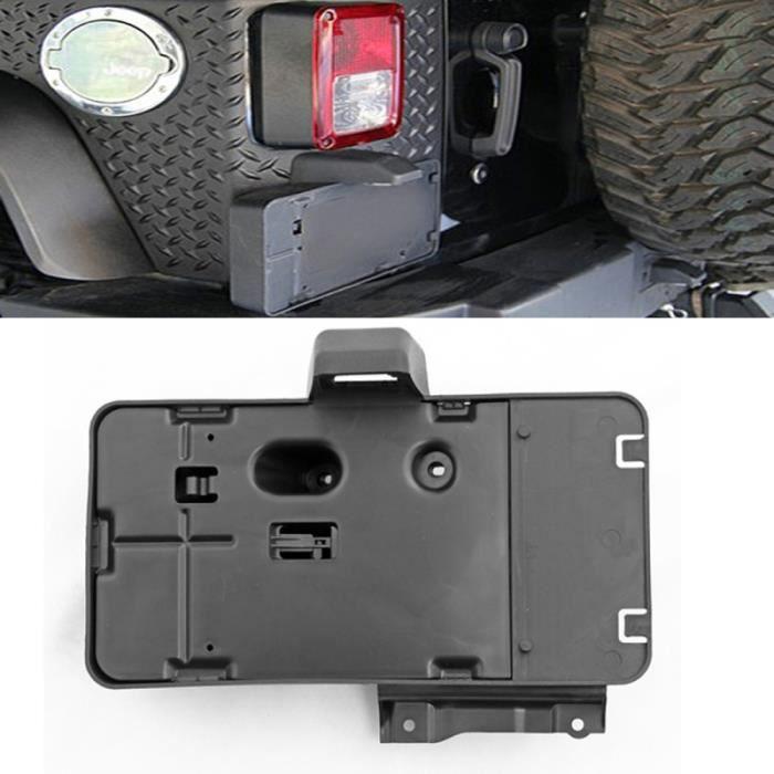 Support de plaque d'immatriculation voiture montage avec lumiere pour Jeep Wrangler JK 2007-2017 - 246159 Noir