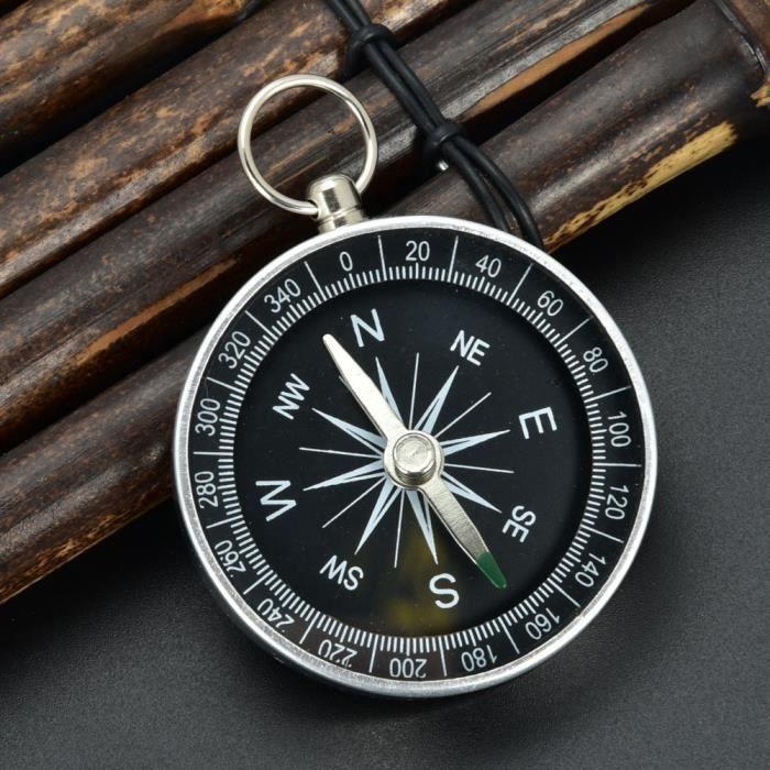 Compass Professionnel de Survie Compass Bouton Outil de Navigation Boussole pour la randonn/ée Camping Navigation de Plaisance Tbest Mini Boussole de Poche