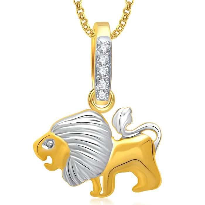 Womens Valentine Gifts Lion Locket Pendant Gold Animal Jewelry With Chain For And P... HI3L3