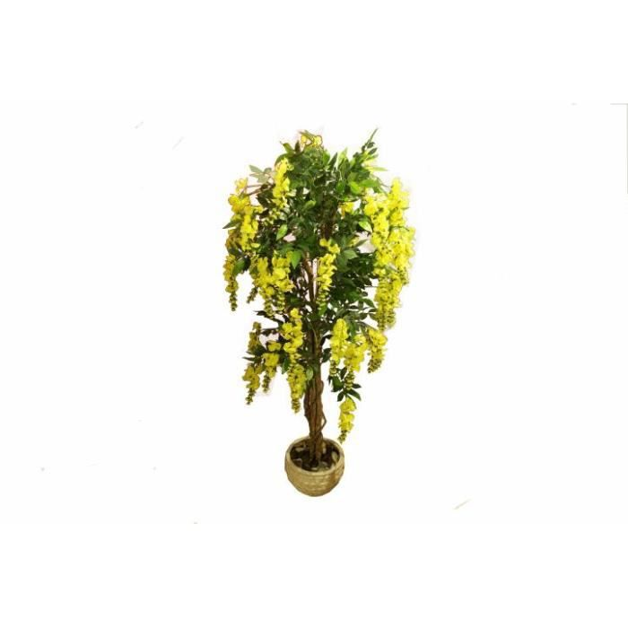 arbre cytises jaune 190 cm v ritable tronc achat vente fleur artificielle cdiscount. Black Bedroom Furniture Sets. Home Design Ideas