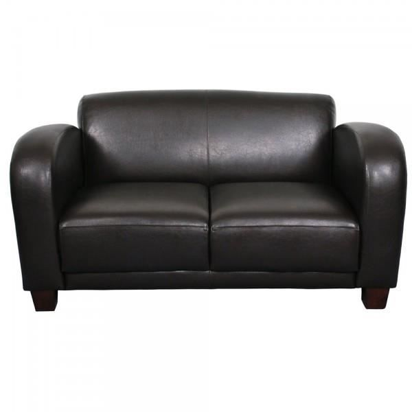 canap club aladin 2 places simili cuir brun achat vente canap sofa divan cdiscount. Black Bedroom Furniture Sets. Home Design Ideas