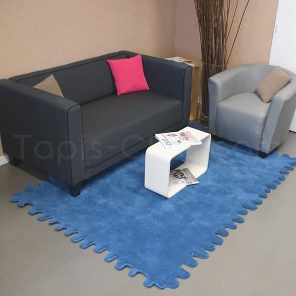 tapis en laine clat bleu canard par carving 170 x 240 cm achat vente tapis soldes cdiscount. Black Bedroom Furniture Sets. Home Design Ideas