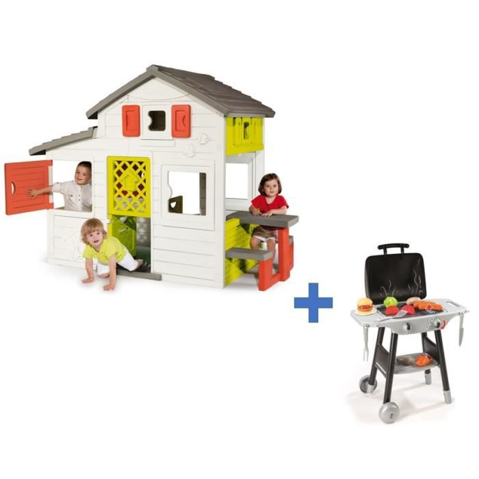 maisonette enfant friend house barbecue plancha smoby achat vente maisonnette ext rieure. Black Bedroom Furniture Sets. Home Design Ideas