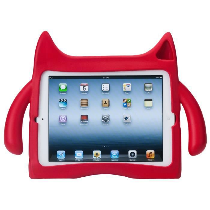 Coque arri re monstre rouge en silicone pour tablette ipad air et le nouvel ipad air 2 d 39 apple - Silicone pour moulage pas cher ...