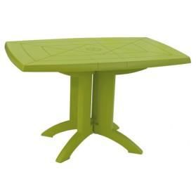 Table Vega Pliante Vert Anis 118x77 Cm Achat Vente Table De Jardin Table Vega Pliante