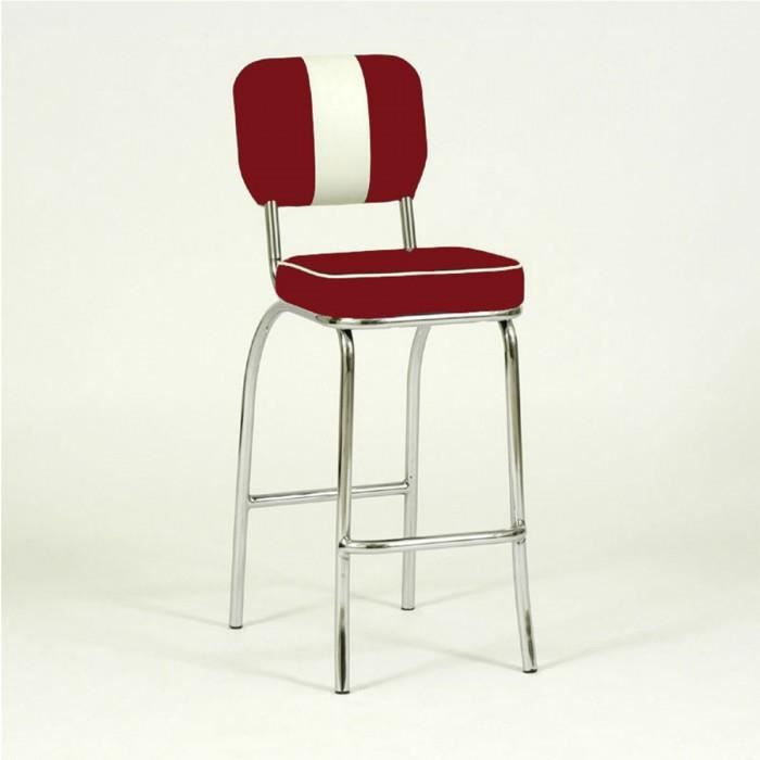 Tabouret de bar design paul couleur rouge vif achat vente tabouret cdis - Tabouret de bar couleur ...