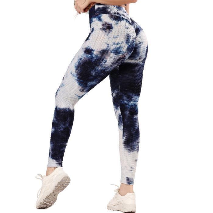 STARBILD Leggings de Sport pour Femme Anti-Cellulite Taille Haute Fesse Remont/ée Pantalon de Compression Pliss/é Slim Push Up Yoya Fitness