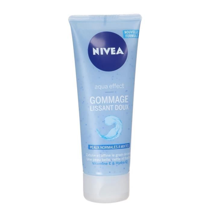 nivea visage gommage lissant doux 75ml achat vente d maquillant nettoyant nivea vis gomm. Black Bedroom Furniture Sets. Home Design Ideas