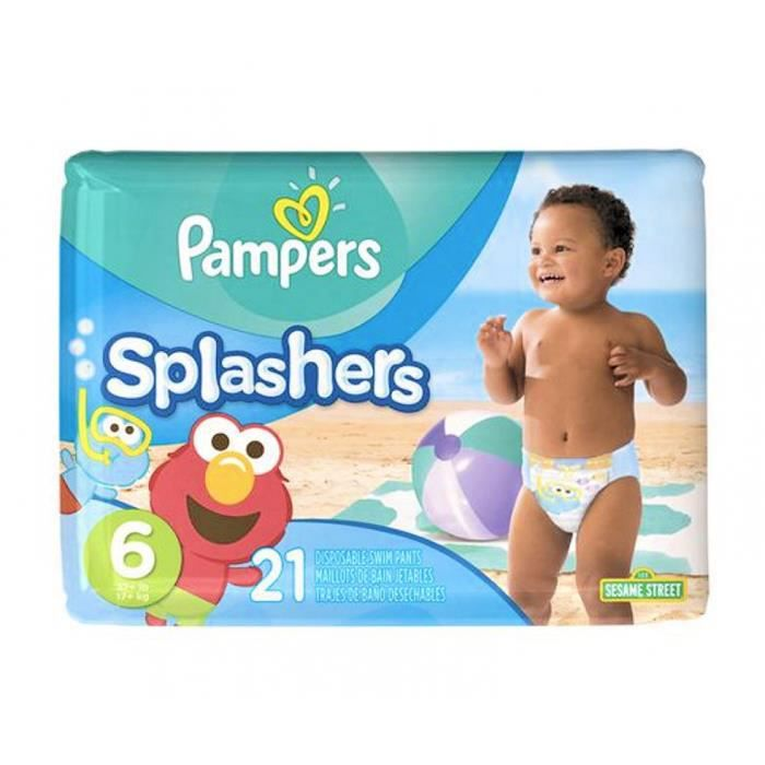 Pampers Maillots De Bain 21 Couches Splashers 17kg Taille 6 Plage