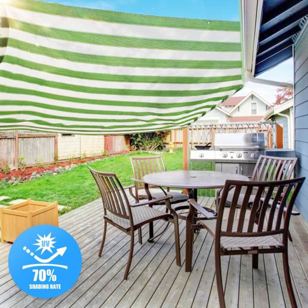 Voile D Ombrage Grand Vent toptw 2x2m voile d'ombrage solaire jardin anti soleil
