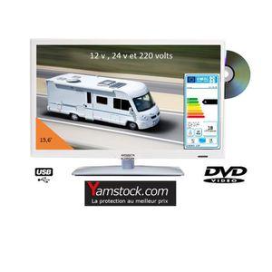 Téléviseur combiné Télévision TV DVD 15.6' 12v 220v blanche