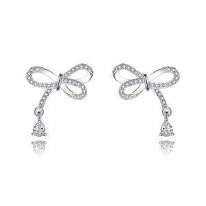 Argent Sterling .925 Shiny Heart Dangle Boucles d/'oreilles pendantes crochet fermoir