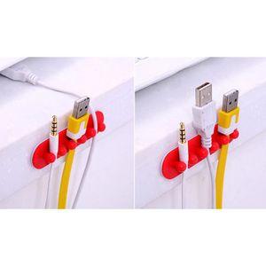 TABLIER DE CUISINE 2pc Câble Câble Clip Câble Ligne Attache Fixateur