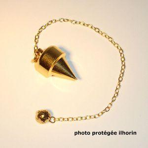 PENDULE DIVINATOIRE Pendule Japonnais laiton doré (radiesthésie- voyan