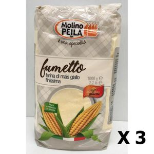 FARINE - FÉCULE Lot 3x Farine de maïs très fine SANS GLUTEN - Ital