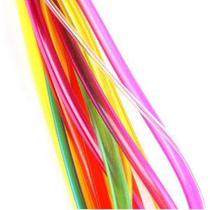 Aiguilles /à tricoter circulaires en bambou//Anti-resistance Bambou Aiguilles avec tube de plastique color/é 18//PC 40 cm