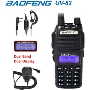 TALKIE-WALKIE Baofeng UV-82 Noir UHF VHF Dual Band Radio FM Talk
