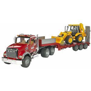 VOITURE - CAMION Bruder 02813 - Camion De Transport Mack Rouge Avec