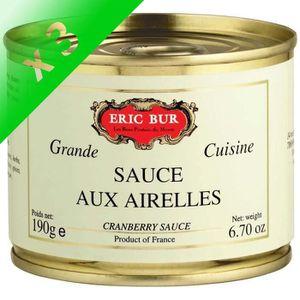 SACHET CUISSON ERIC BUR Sauce aux Airelles 190g (Lot de 3)