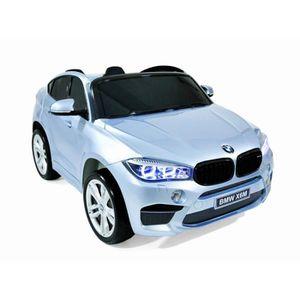 VOITURE ELECTRIQUE ENFANT BMW X6 M Voiture electrique enfant 2 places Gris -