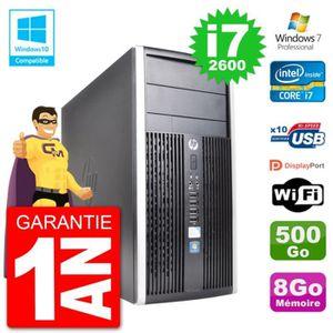 UNITÉ CENTRALE + ÉCRAN PC HP 6300 MT Intel Core i7-2600 RAM 8Go Disque 50