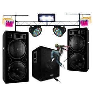 PACK SONO PACK SONO 2800W + ENCEINTES + CAISSON + 5 JEUX DE