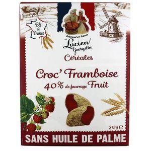 CÉRÉALES PETIT DEJ  LUCIEN GEORGELIN Céréales Croc' Framboise - 375 g