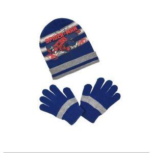 BONNET - CAGOULE Ensemble SPIDERMAN bonnet gants enfant garçon