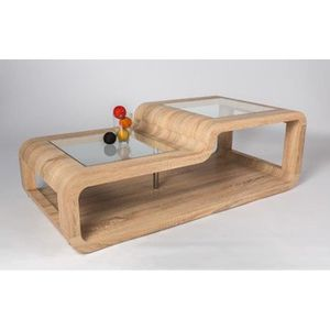 Table basse chene clair sonoma achat vente table basse for Table basse chene clair pas cher