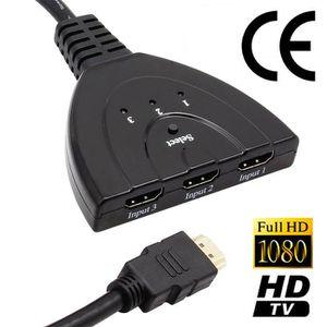 REPARTITEUR TV Splitter Répartiteur Switch HDMI 1 Entrées à 3 Sor