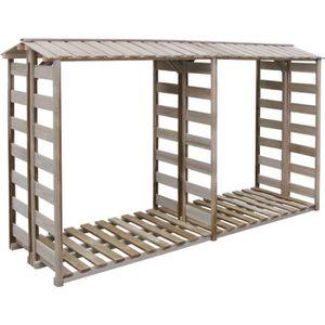 ABRI BÛCHES vidaXL Abri de stockage du bois 300x100x176 cm Pin