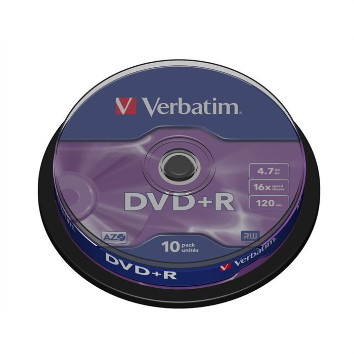 VERBATIM Support de stockage DVD+R - 74Go - x16