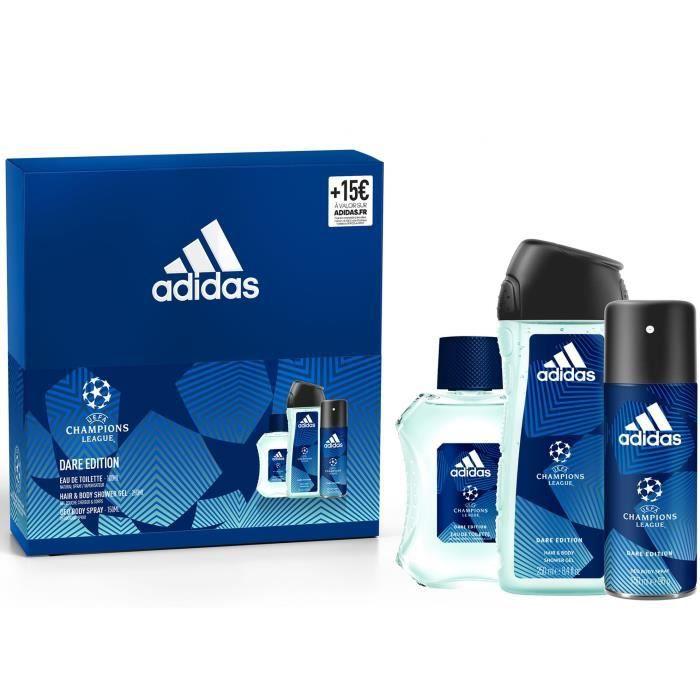 ADIDAS Coffret UEFA 6 Dare Edition - Eau de toilette 100 ml, gel douche 250 ml et déodorant parfumant 150 ml