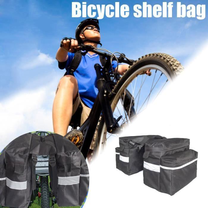 Accessoires Vélo-Décoration Vélo Mountain Bike Twin arrière Rack sac porte-vélos bagages bagages sacoche étanche ZPP200619005_5462